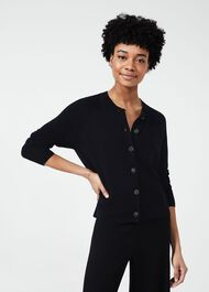 Lexi Cardigan With Wool, Navy, hi-res