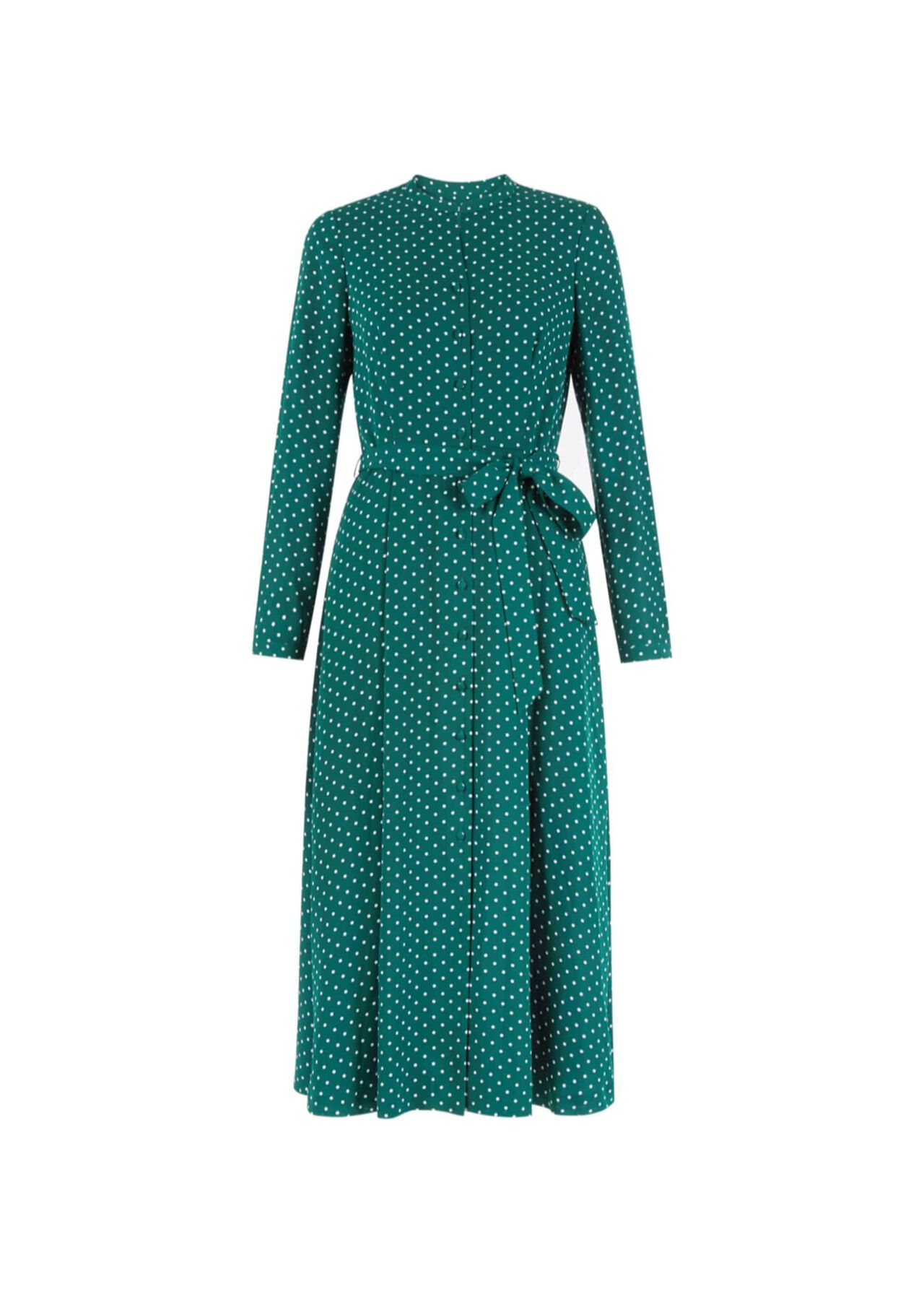 Tarini Dress Green Ivory