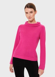 Audrey Wool Cashmere Sweater, Pink, hi-res