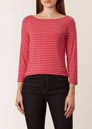Striped Sonya Top, Vintage Rose, hi-res