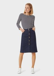Striped Sonya Top, Navy Ivory, hi-res