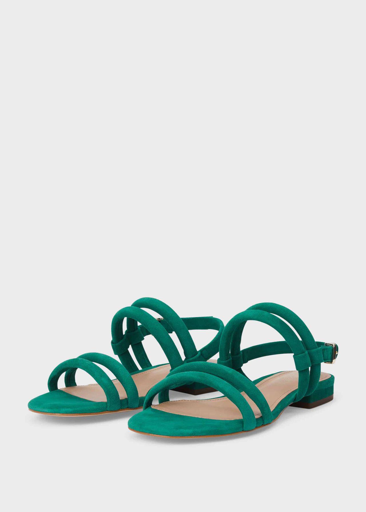 Orla Suede Sandals, Seaweed, hi-res