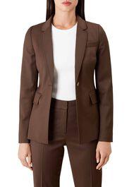 Penelope Wool Blend Jacket, Chocolate, hi-res