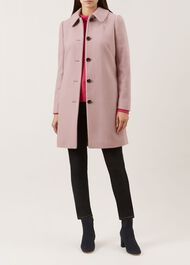 Carron Wool Blend Coat, Pale Pink, hi-res