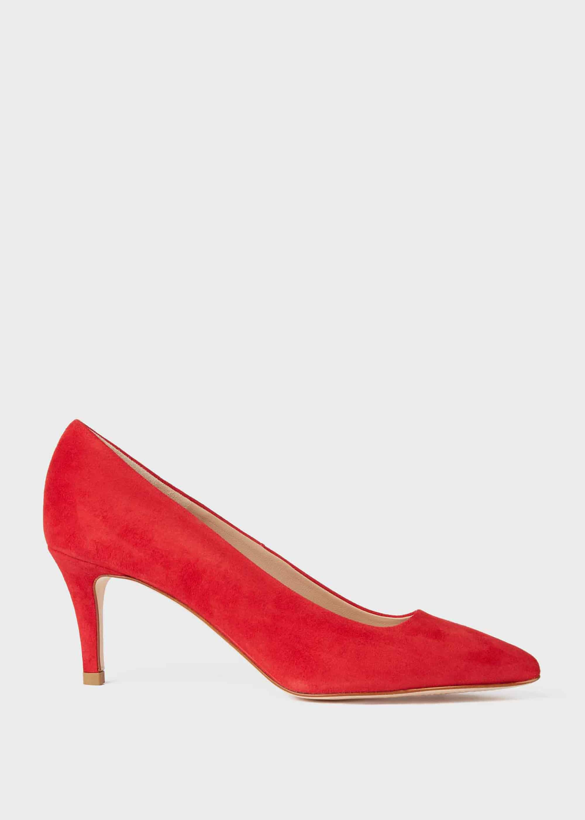 Elouise Suede Stiletto Court Shoes | Hobbs
