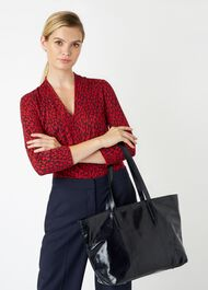 Gable Tote Bag, Navy, hi-res