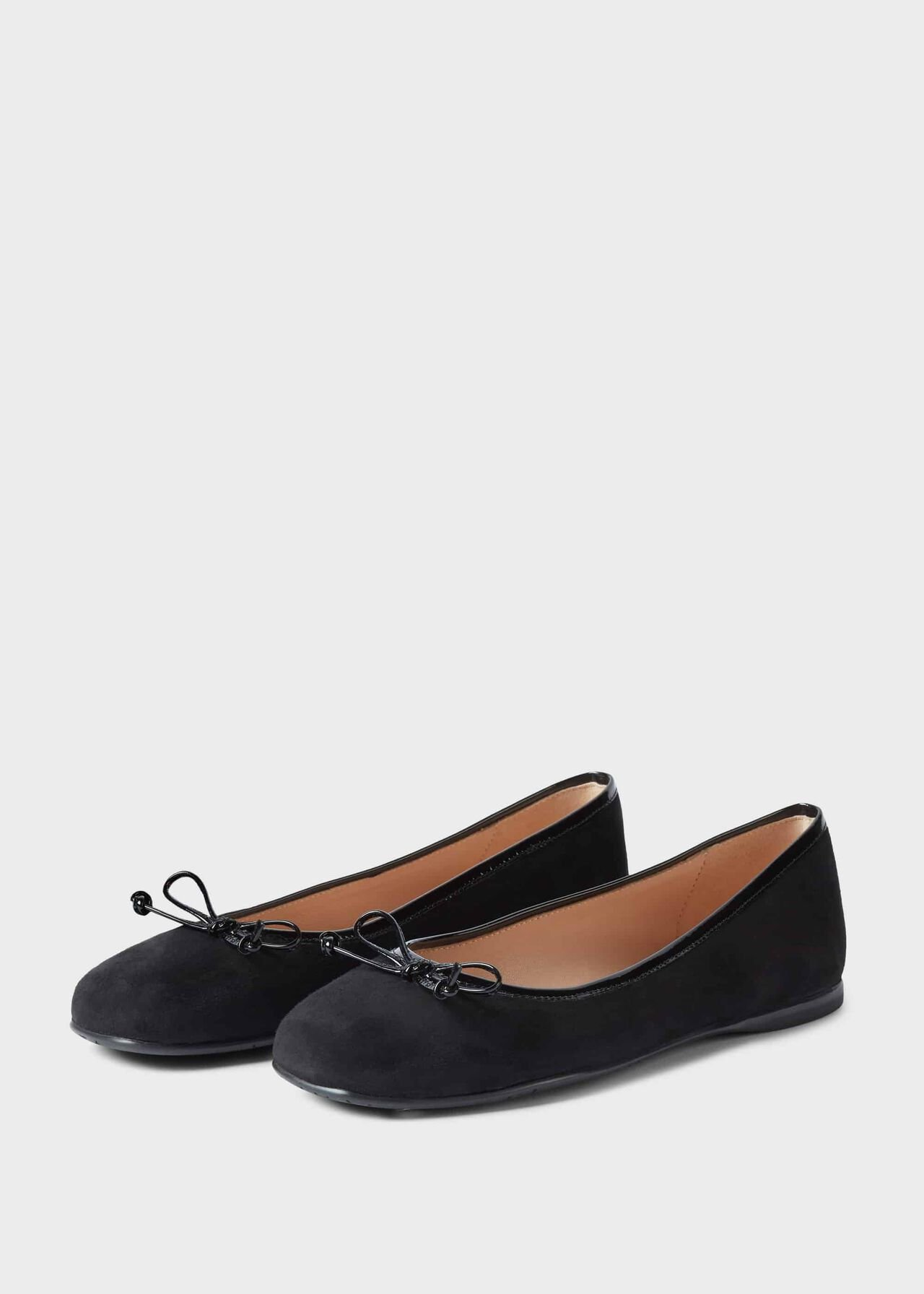 Prior Suede Ballerinas Black