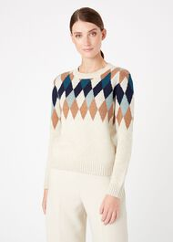 Lupin Sweater, Ivory Multi, hi-res