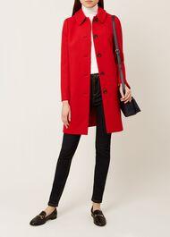 Carron Wool Blend Coat, Red, hi-res