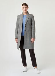 Tilda Wool Blend Coat, Grey Multi, hi-res