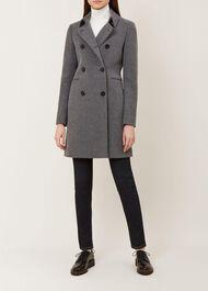 Kester Wool Blend Coat, Charcoal Grey, hi-res