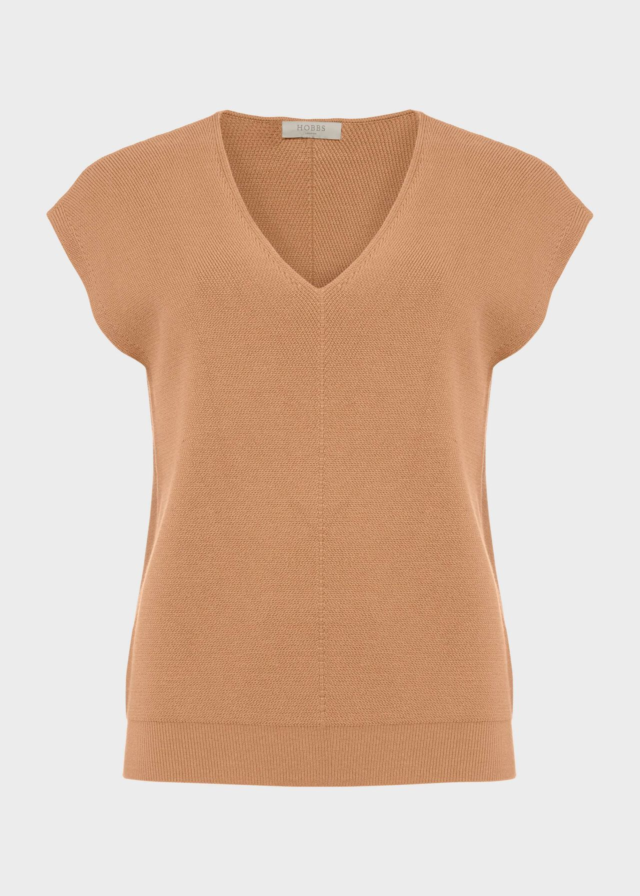 Marlow Knitted Top, Toffee, hi-res