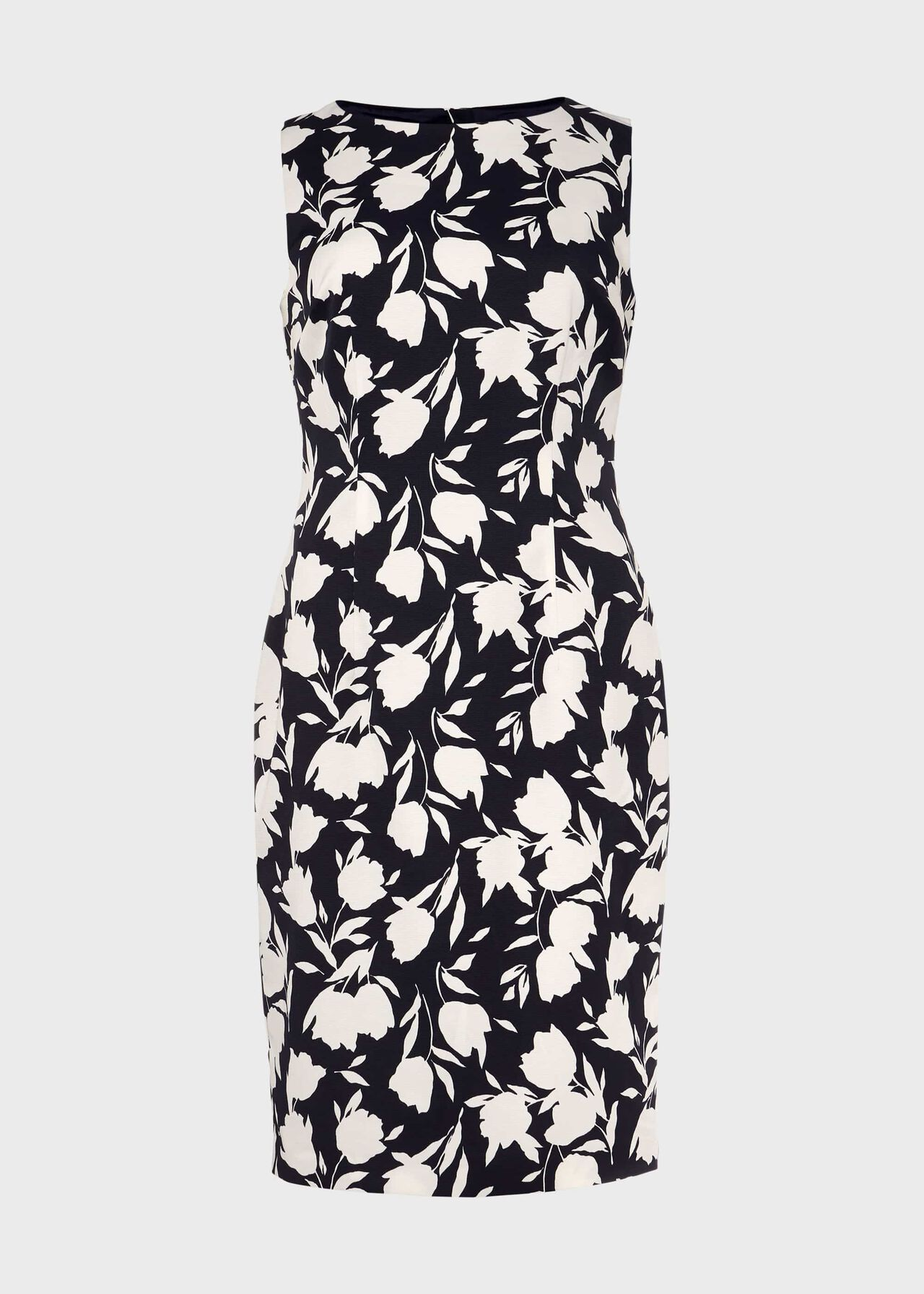 Moira Floral Shift Dress Midnight Ivory