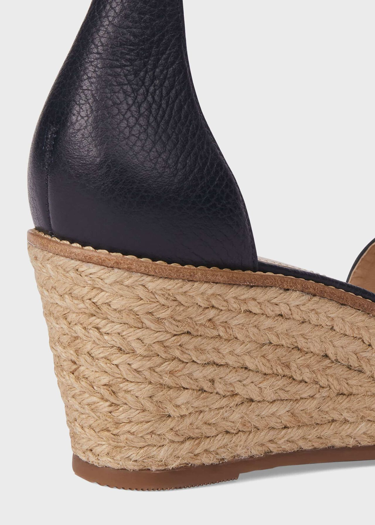 Vespa Leather Wedge Espadrilles, Navy, hi-res