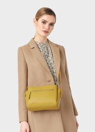 Hadley Leather Cross Body Bag , Citron, hi-res