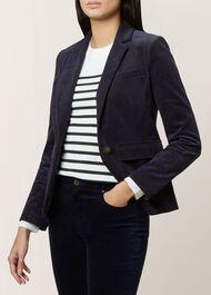 Valerie Corduroy Jacket, Navy, hi-res
