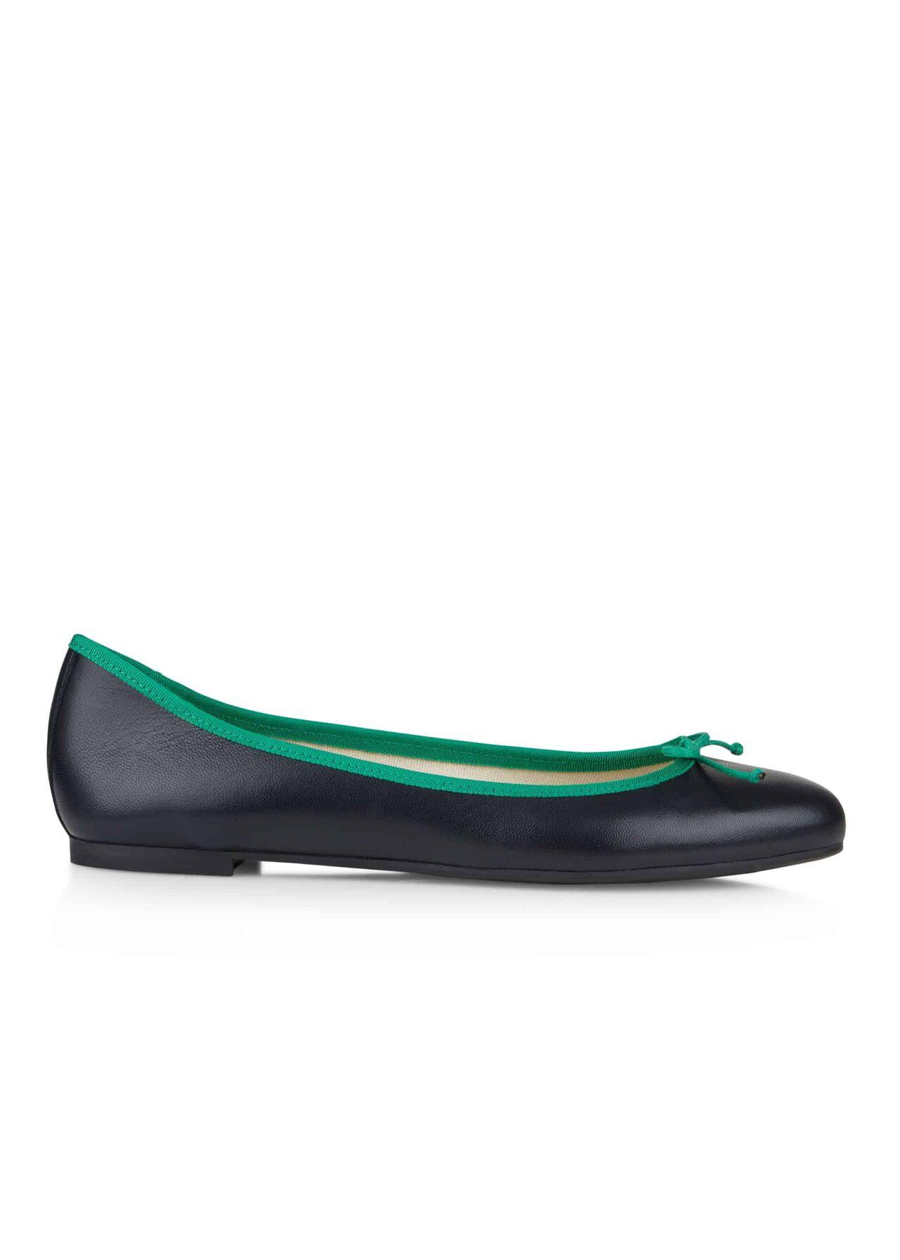 Flo Ballerina Navy Green