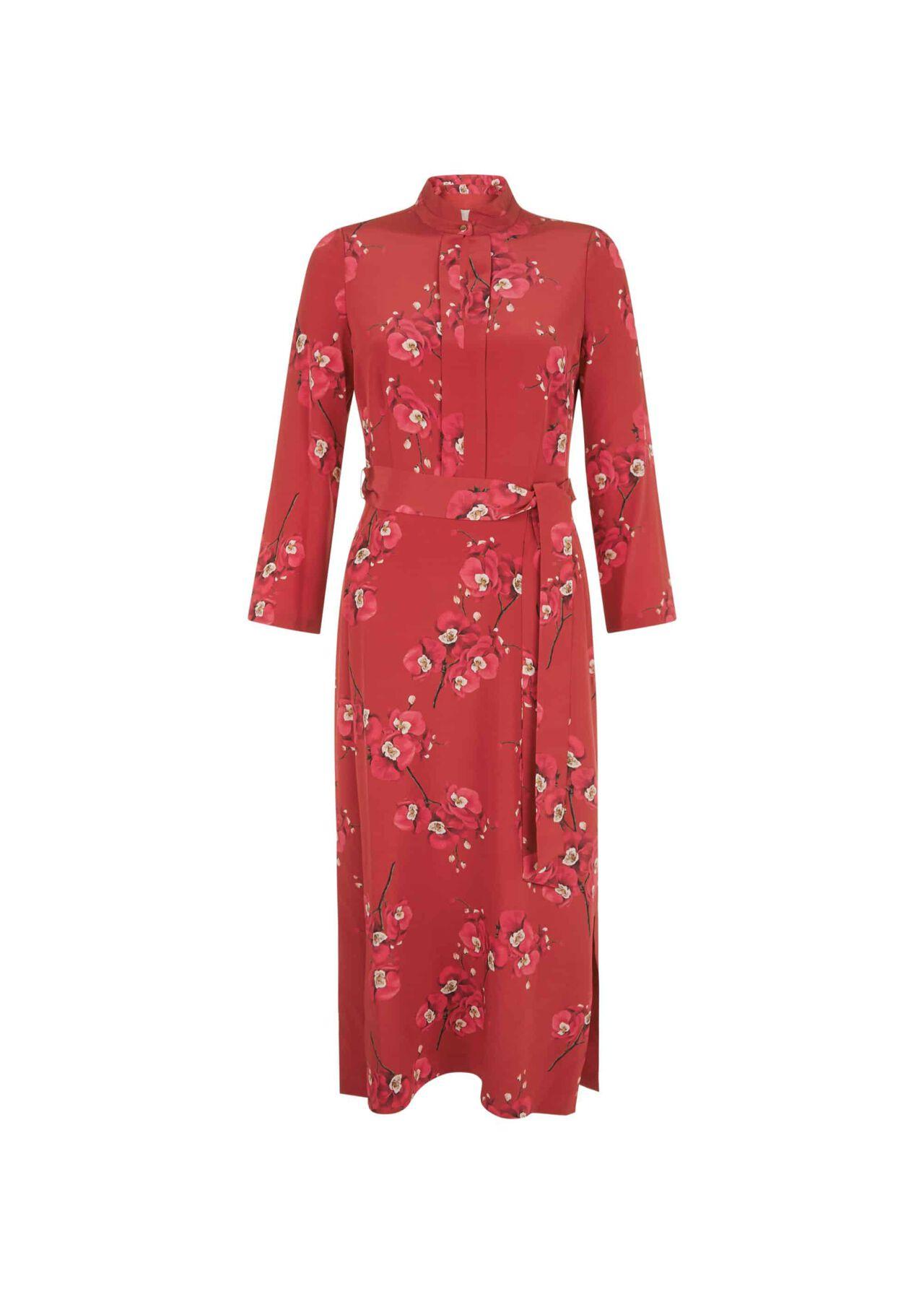 Margot Silk Dress Burgundy Cerise