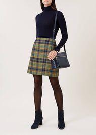 Margot Wool Skirt, Saffron Multi, hi-res