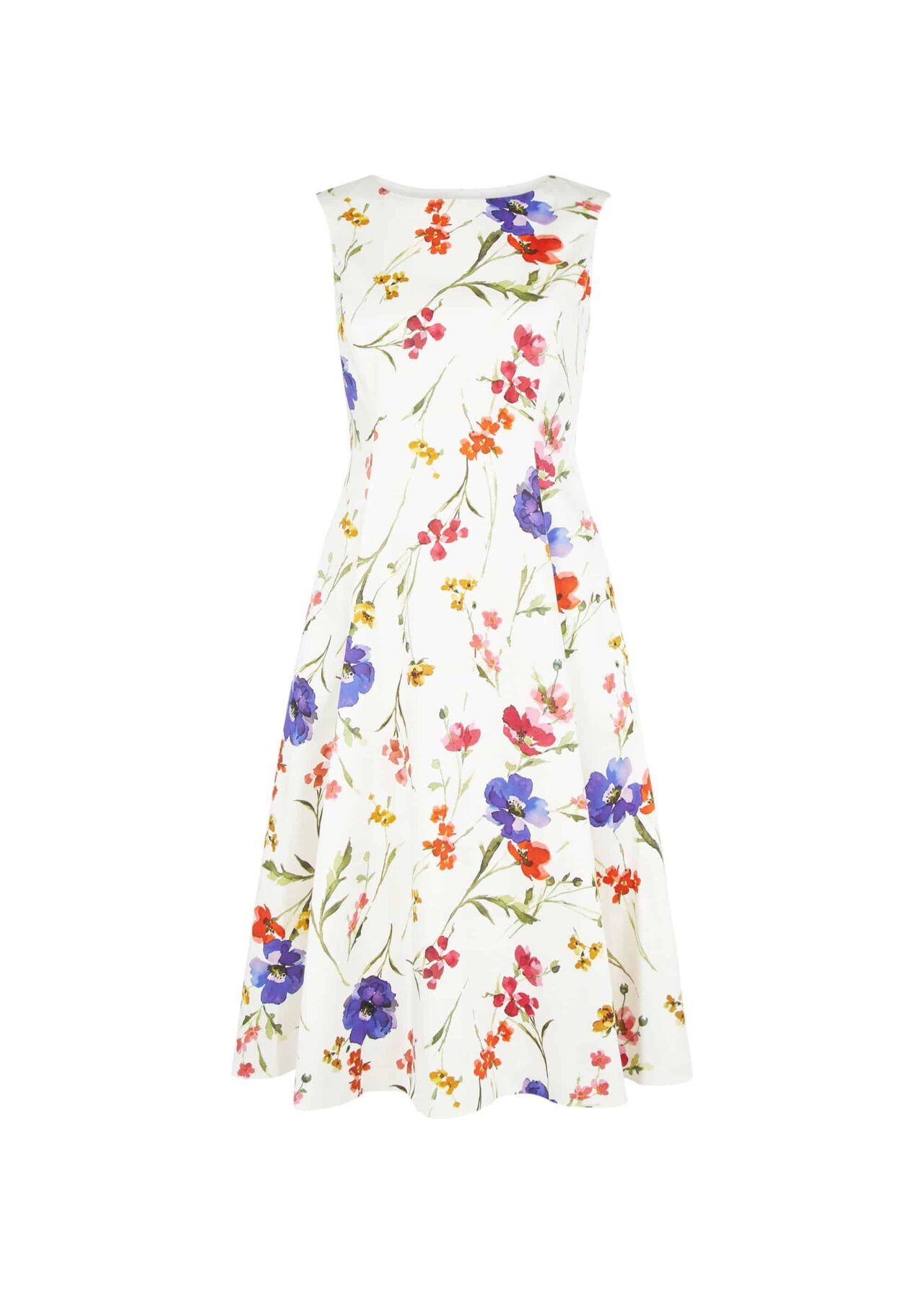 Cleo Dress Ivory Multi