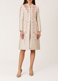 Melody Coat, Oyster Posie, hi-res