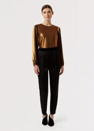 Malindi Metallic Top, Black Copper, hi-res