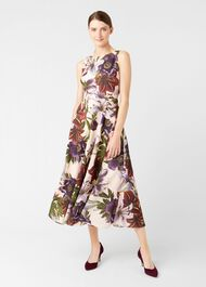 Carly Dress, Blush Multi, hi-res