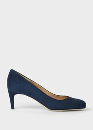 Emma Suede Stiletto Court Shoes, Midnight, hi-res
