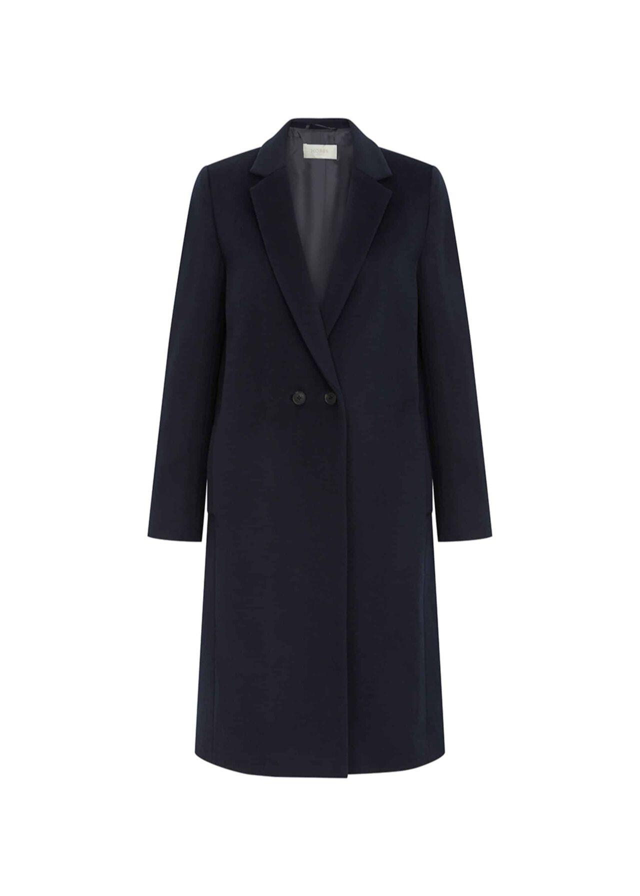 Thea Wool Blend Coat Navy