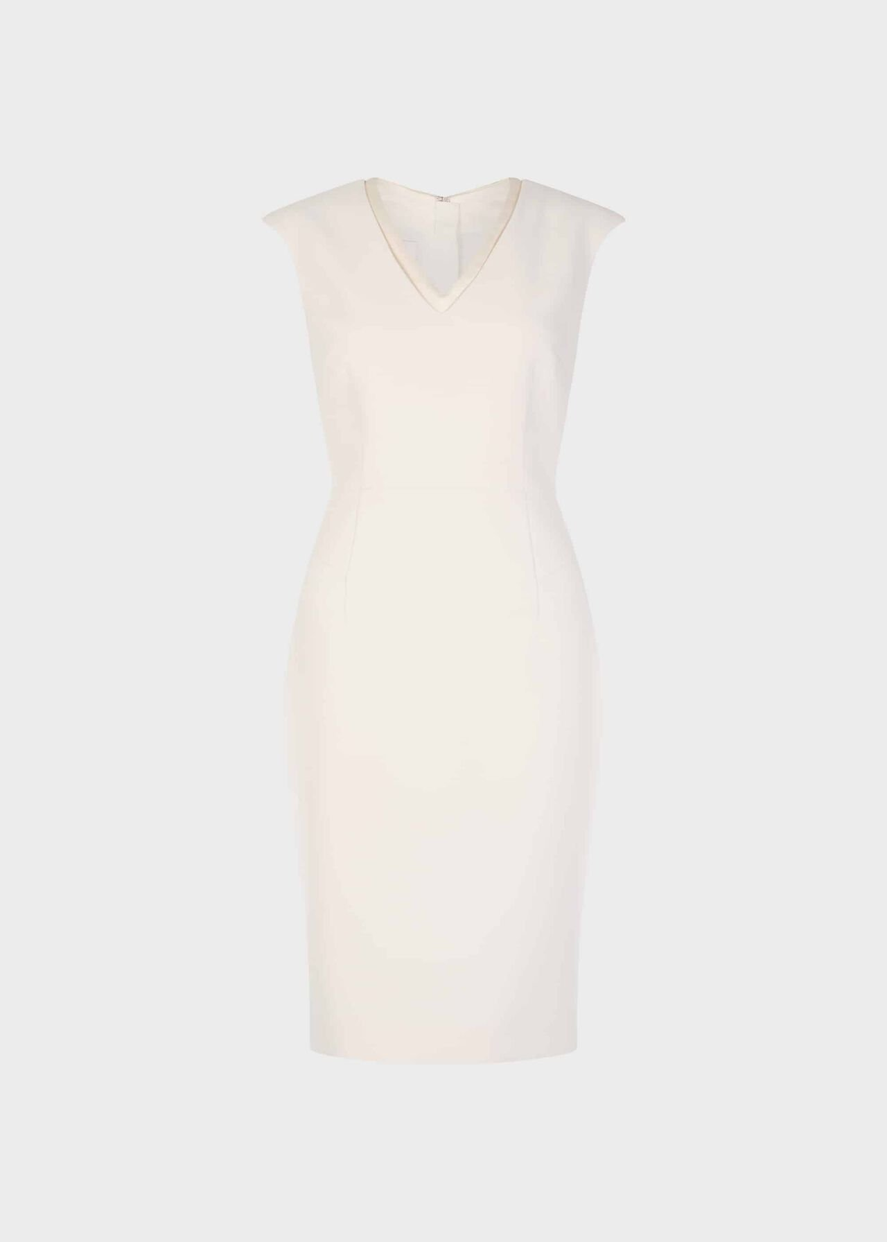 Frida V Neck Shift Dress Ivory