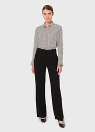Alva Wide trousers, Black, hi-res