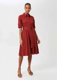 Tyra Fit And Flare Dress, Rust, hi-res