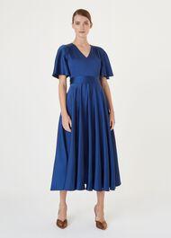 Angelina Satin Dress, Regal Blue, hi-res