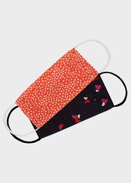 Pack Of Two Reusable Face Masks Non-Medical, Navy Red, hi-res