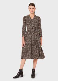 Petite Rosaline Dress, Navy Camel Ivry, hi-res