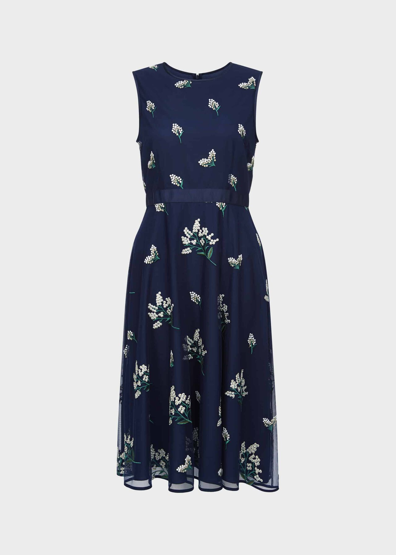 Julia Embroidered Floral Dress Midnight