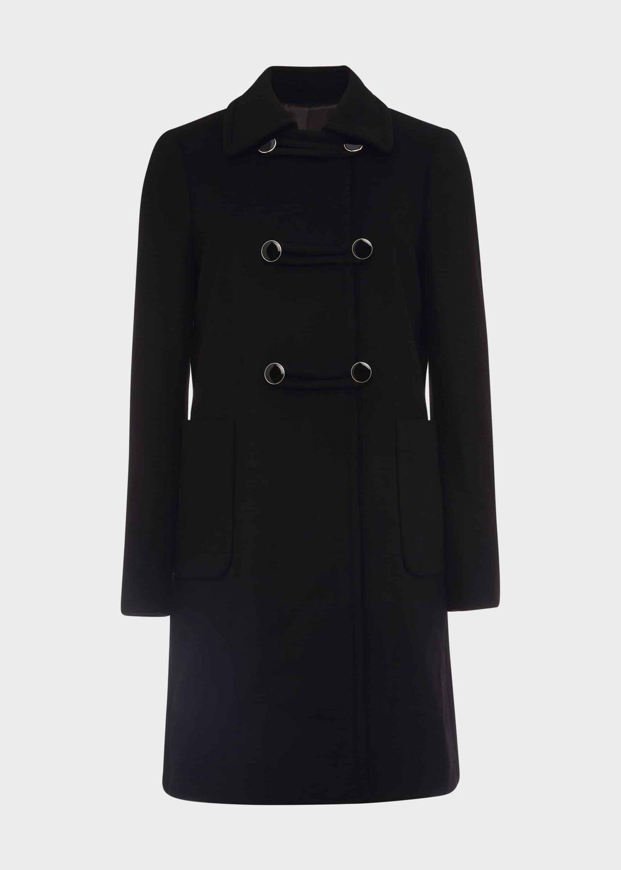 Nuala Wool Blend Coat Black