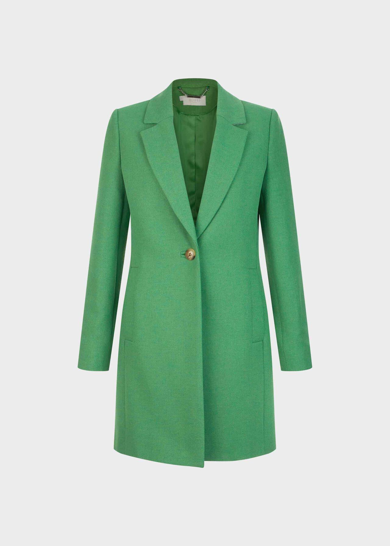 Petite Camellia Coat Green