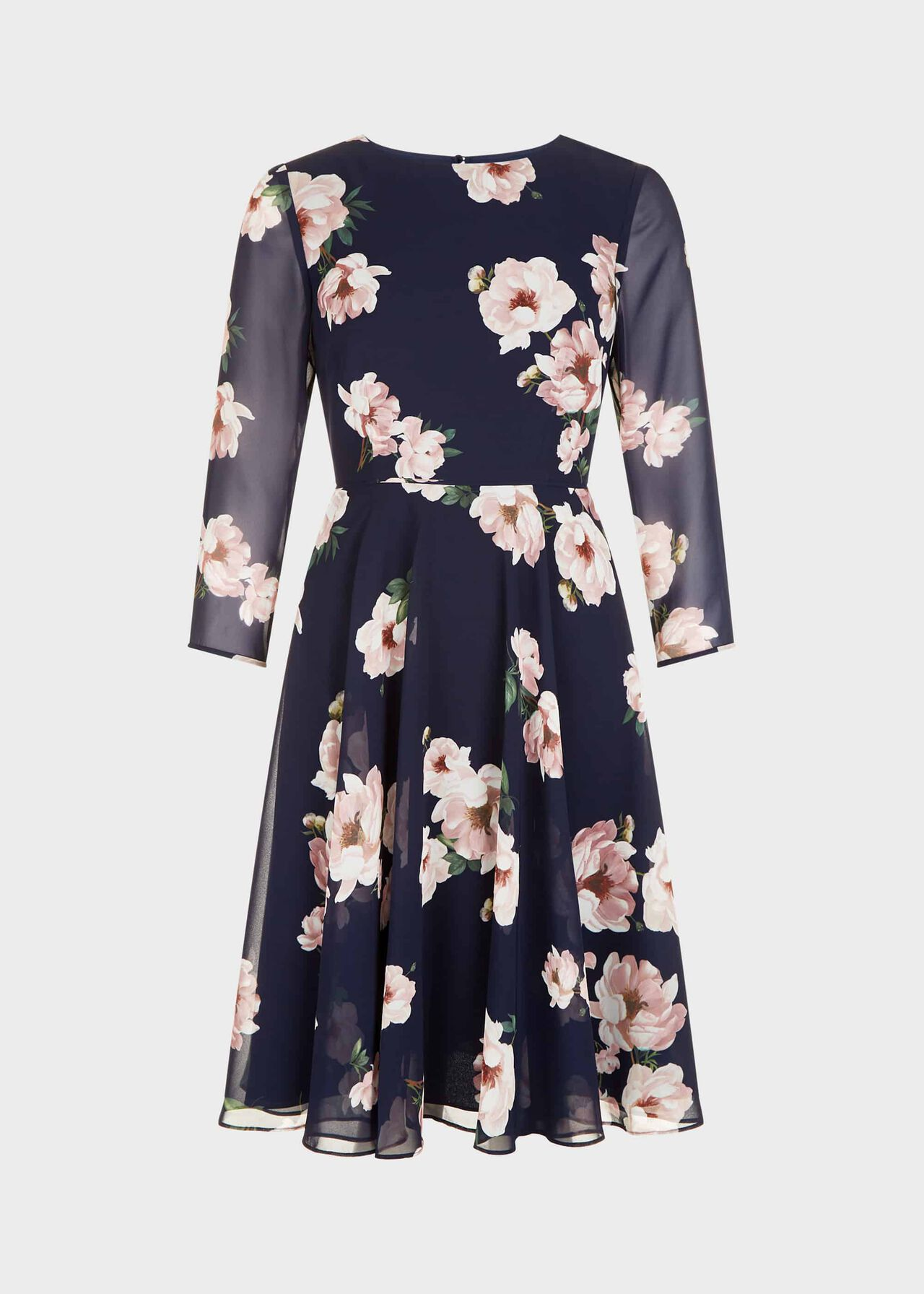 Norah Floral Fit And Flare Dress Midnight Blush