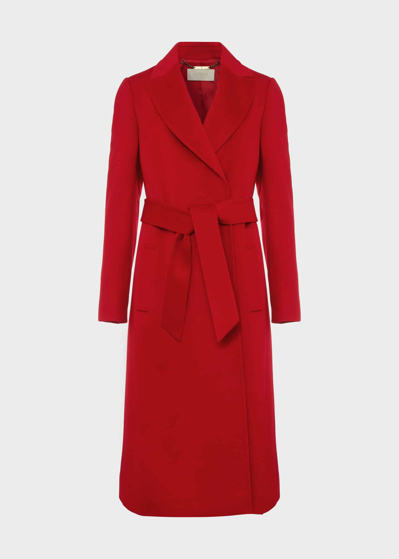 Olivia Wool Wrap Coat Red