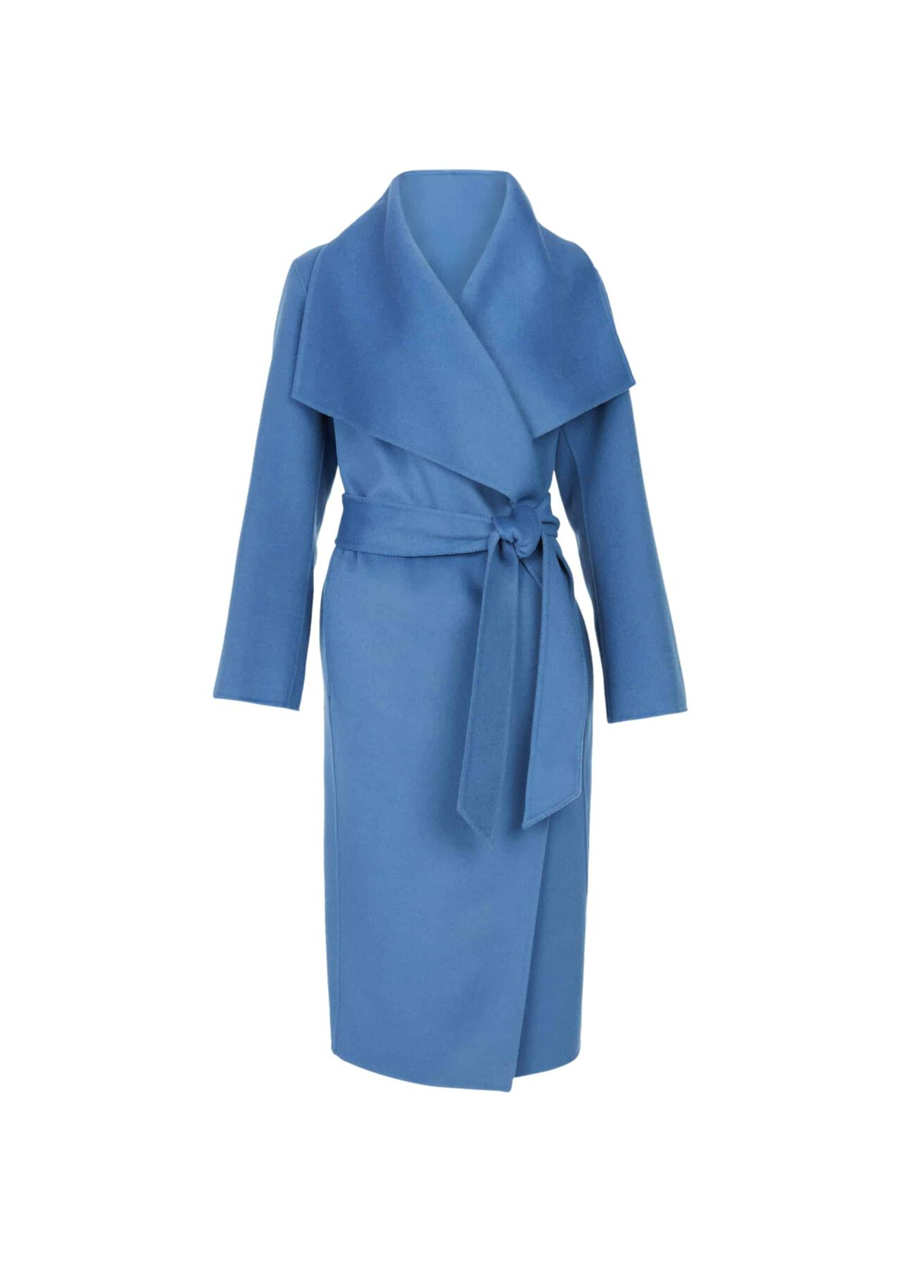 Odelia Double Face Wool Blend Coat Chambray