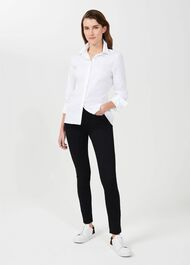 Petite Victoria Cotton Shirt, White, hi-res