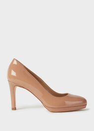 Julietta Patent Stiletto Court Shoes, Toasted Almond, hi-res