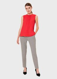 Flora Pleated Top, Red, hi-res