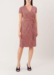 Delilah Wrap Dress, Multi, hi-res