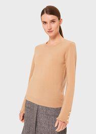 Imogen Wool Cashmere Sweater, Camel, hi-res