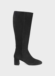 Imogen Leather Knee Boot, Black, hi-res
