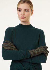 Emma Glove, Green Check, hi-res