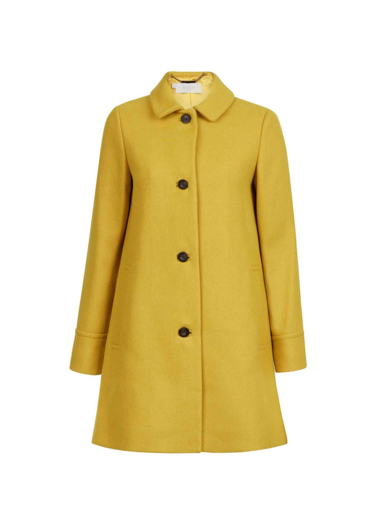 Fia Wool Blend Coat Honey Yellow