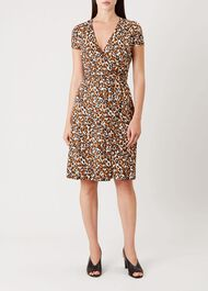 Delilah Wrap Dress, Pumpkin Spice, hi-res